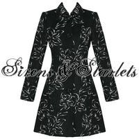 View Item LADIES WOMENS NEW BLACK FLORAL EMBROIDERY VINTAGE STYLE VISCOSE JACKET COAT