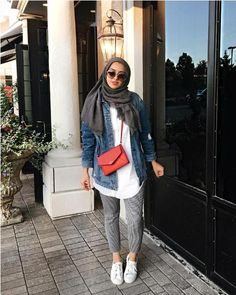 Casual fall trends for hijab