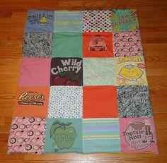Kids Yummy Candy Upcycled TShirt Quilt by 3LittleMonkeysShirts, $65.00