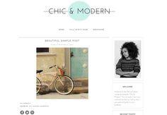 Wordpress Template - Chic & Modern by Theme Fashion on Creative Market