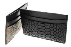 #ValenzHandmade Boa Leather & Python Card Holders