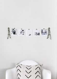 DIY INSTANT FILM STYLE PHOTO GARLAND