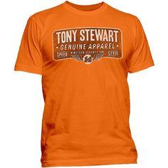 Men's Tony Stewart Genuine Tee, Size: Small, Orange