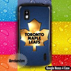 Toronto Maple Leafs NHL Gold Logo Google Nexus 4 Case