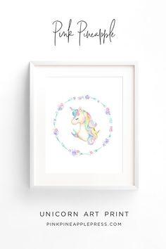 Pink Pineapple | Unicorn Wreath Art Print | printable wall art nursery art prints pink unicorn unicorn art unicorn wall art unicorn decor unicorn wall decor unicorn nursery unicorn nursery ideas unicorn nursery decor unicorn nursery theme unicorn nursery printable unicorn room unicorn room ideas unicorn room decor #unicorn #unicornart #unicornwallart #unicornnursery #unicornroom #unicorndecor #printable #printablewallart
