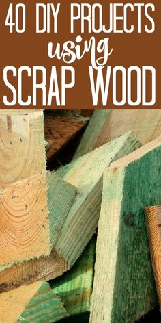 40 DIY Scrap Wood Projects - ideas for all of those scrap wood pieces you have laying around! Make these DIY scrap wood projects with those small pieces leftover from your larger projects! 40 ideas to get your creativity flowing! Scrap Wood Crafts, Diy Wooden Projects, Wood Block Crafts, Wood Projects That Sell, Woodworking Projects That Sell, Diy Woodworking, Woodworking Classes, Projects With Scrap Wood, Wood Crafts