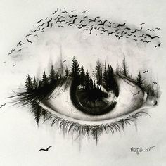 Double Exposure Eye Artist:|@majla_art|