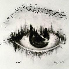 Double Exposure Eye Artist:|@majla_art|