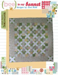 "Aunt Hazel's Tablecloth by Lori Holt pattern for 72"" x 72"" Quilt $14.00 on Etsy at http://www.etsy.com/listing/106458944/aunt-hazels-tablecloth?ref=shop_home_active"
