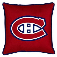 Montreal Canadiens Sideline Pillow CAD 24.70 http://www.fansedge.com/Montreal-Canadiens-Sideline-Pillow-_-765824947_PD.html?social=pinterest_pfid44-51839