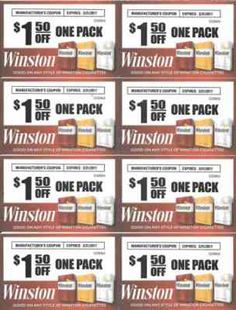 10 Best cigarette coupons free printable images in 2017