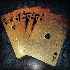 Glitter playing cards