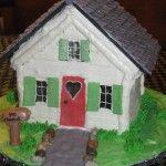 A Country Cottage House Theme Cake.