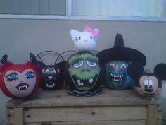More One of a Kind Painted Pumpkins