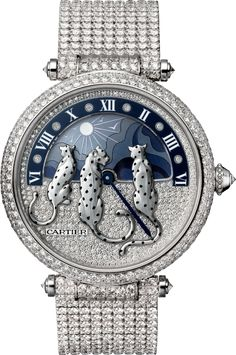 Cartier Rêves de Panthères watch Large model, rhodiumized 18K white gold, diamonds
