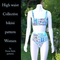 High waist Collective bikini pattern Sew this swimsuit!