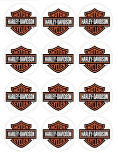 """Single Source Party Supplies - 2.5"""" Harley Davidson Motorcycle Cupcake Edible Icing Image Toppers #3 by Single Source Party Supplies, http://www.amazon.com/dp/B00A9M4VO0/ref=cm_sw_r_pi_dp_mrrerb18TR99M"""