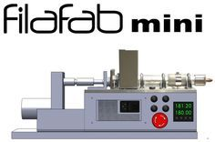 FilaFab Mini - Low cost and compact desktop plastic extruder kit Put in plastic granules and make your own plastic filament Produce filament for your