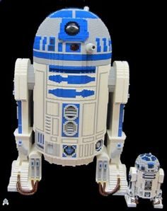 This is a life-size droid! If you look closely, you will see an R2-D2 Minfig added for scale