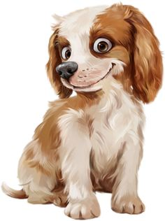 Find Happy Puppy Illustration stock images in HD and millions of other royalty-free stock photos, illustrations and vectors in the Shutterstock collection. Thousands of new, high-quality pictures added every day. Cute Animal Illustration, Cute Animal Drawings, Cute Drawings, Cross Paintings, Dog Paintings, Puppy Flowers, Baby Animals, Cute Animals, Cockerspaniel