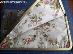 laboreandovoy: Tutorial funda con boquilla recta Pink, Fabrics, Japanese Fabric, Quilting Patterns, Drip Tip, How To Sew