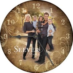 Personalized Wall Clock For The Home Pinterest Clocks And Walls