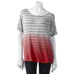 Hang Ten Striped Dip-Dyed Top