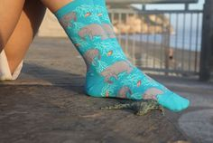 These wonderful colorful socks. | 19 Adorable Manatee Products For Everyone Who…