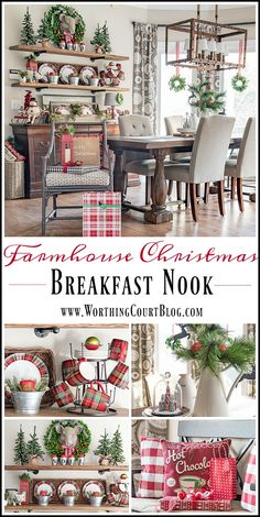 Farmhouse Christmas Breakfast Nook || Worthing Court