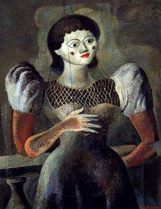 Carlos Orozco Romero, 'La títere', 1934, óleo sobre lienzo, 77 x 60.5. México / arte, pintura, latin art, mexican art