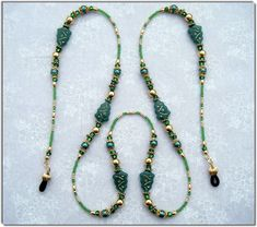 Beaded Eyeglass Chains, Beaded Eyeglass Holders/Leashes and Beaded