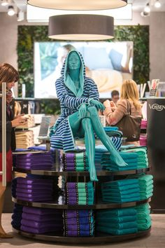 Amazing coloured towels in Hall 11.0 at the stall of exhibitor Vossen GmbH & Co.KG