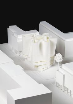 Competition entries for a Berlin communal prayer and teaching hall for Christian, Jews and Muslims. Arch Architecture, Minimalist Architecture, Contemporary Architecture, Conceptual Sketches, Abstract City, Arch Model, Facade Design, Modern Buildings, Design Process