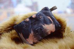 Rottweiler Rottweiler pouch  rottweiler purse by BENWINEWIN, $7.95