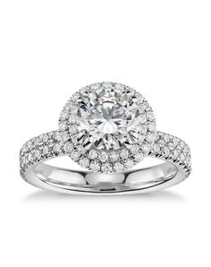 Double Halo Gala Diamond Engagement Ring | Blue Nile Studio | http://trib.al/imKB60e