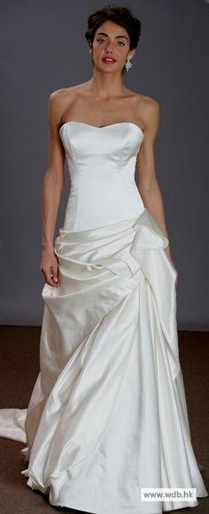 bridal gowns Satin simple A-line wedding dress $278.98
