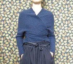 Daniela Gregis, Blu Washed Classic Wrap Cardigan