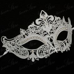 about Steampunk Top Hat Mad Scientist Time Traveler Masquerade Mask Accessory [Silver] Womens Luxury Filigree Metal Laser-Cut Venetian Masquerade Mask [White]Womens Luxury Filigree Metal Laser-Cut Venetian Masquerade Mask [White] White Masquerade Mask, Mascarade Mask, Venetian Masquerade Masks, Masquerade Party, Masquerade Dresses, Steampunk Hut, Steampunk Top Hat, Mascarade Wedding, Halloween Ball