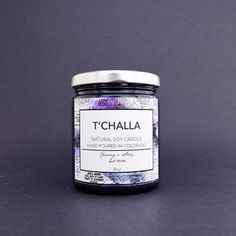 T'Challa Soy Candle | Black Panther Candle | Book Fetish: Volume 350