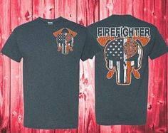 Firefighter Flag Shirt Fireman Shirts Firefighter TShirts Firefighter Gifts Thin Red Line FireFighter Wife Firefighter Girlfriend Tshirt 500 by NCWDesigns. Explore more products on http://NCWDesigns.etsy.com