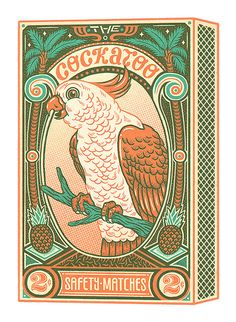 Cockatoo Safety Matches | Artwork for a cockatoo themed exhi… | Flickr Art And Illustration, Illustrations, Graphic Design Illustration, Vintage Graphic Design, Graphic Design Inspiration, Comic Art, Matchbox Art, Grafik Design, Vintage Art