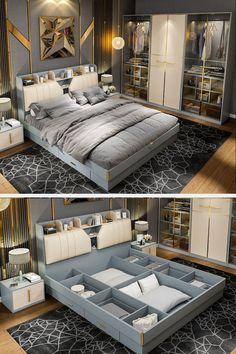 Bedding Master Bedroom, Bedroom Bed Design, Home Room Design, Home Bedroom, Living Room Tv Unit Designs, Small Bedroom Designs, Bed Designs, Modern Bedroom Furniture Sets, Contemporary Bedroom