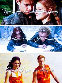 """ ~Divergent~ The Mortal Instruments, City of Bones ~ The Hunger Games, Catching Fire I Love Books, Good Books, Ya Books, Cassandra Clare Books, Fandom Crossover, Book Memes, Book Quotes, City Of Bones, Catching Fire"