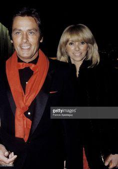 Paris, France , Alain Delon with his companion Mireille Darc. ,