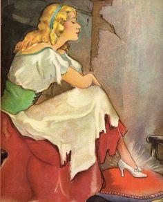 Juanita Bennett did lovely art in pastels for a 1935 Cinderella book.