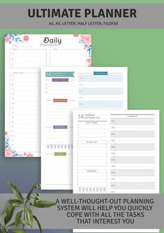 Dated Daily Planner is both simple and efficient. Choose one that you like and get started on getting organized. It is available in all popular sizes and can be saved in printable PDF format, or use with Goodnotes, Noteshelf, Xodo and Notability for your iPad. #planner #day #organizer #organizers #journal Daily Planner Printable, Planner Template, Business Planner, Goals Planner, Life Plan, Filofax, Business Fashion, Getting Organized, Love Life