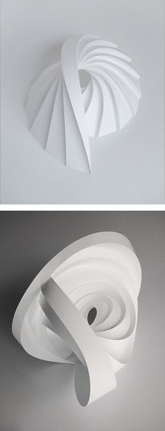 Doblado Esculturas de papel de Matt Shlian