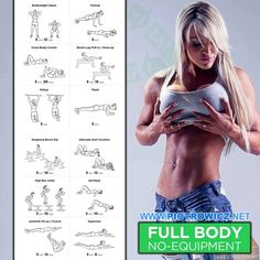 Full Body Workout - No Equipment Sexy Female Fitness Training Ab - FITNESS HASHTAG