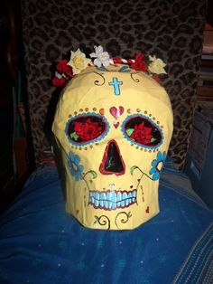 Pinata Sugar Skull Made to order by FestivMotha on Etsy, $40.00
