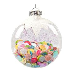 Confetti Ornaments-great DIY Christmas gift and also for the Santas Elves Toymaker Badge Workshop